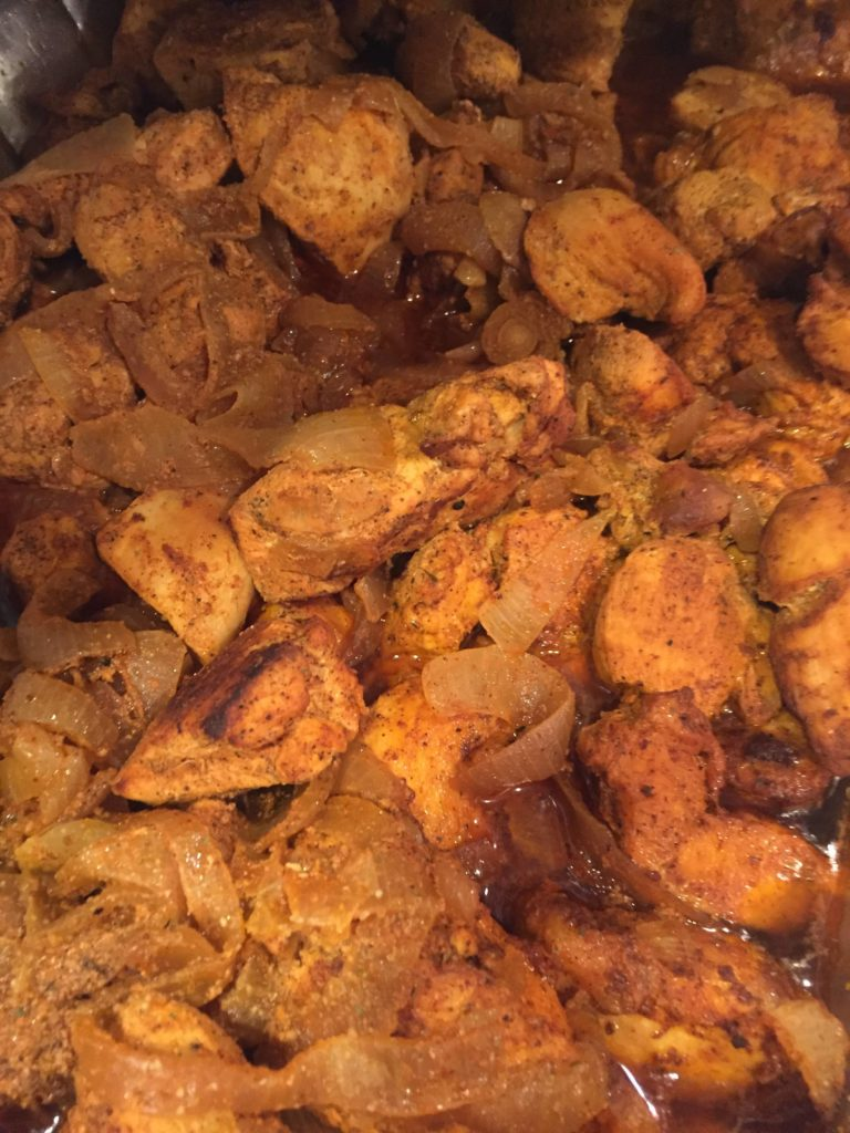 Belizean stewed chicken