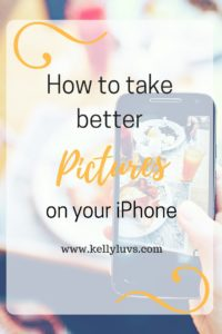 Want to learn how to take better pictures on your iPhone. Read my blog post to learn how. https://www.kellyluvs.com
